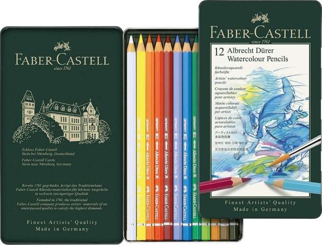 Faber Castel watercolour pencils 12