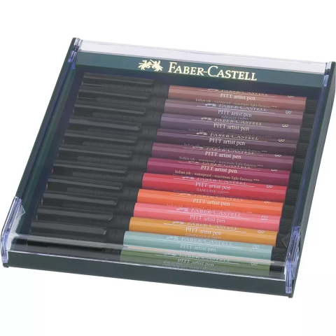 Faber Castel brush pen 12 earth