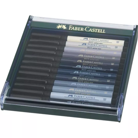 Faber Castel brush pens 12 greys