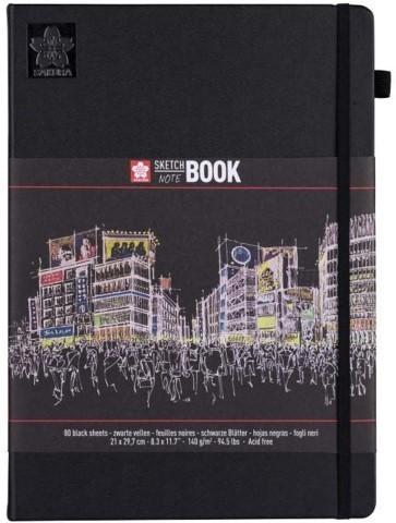 SAKURA sketch book 29,7x21 black