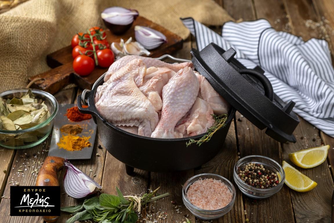 Κοτόπουλο Ολόκληρο Τεμαχισμένο - 2.2Kg