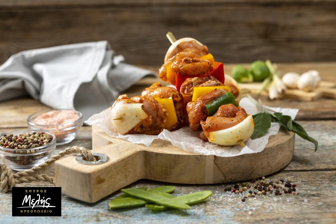 Κοτόπουλο Σουβλάκι Μαριναρισμένο Με Λαχανικά Στο Ξυλάκι - 900 - 1Kg