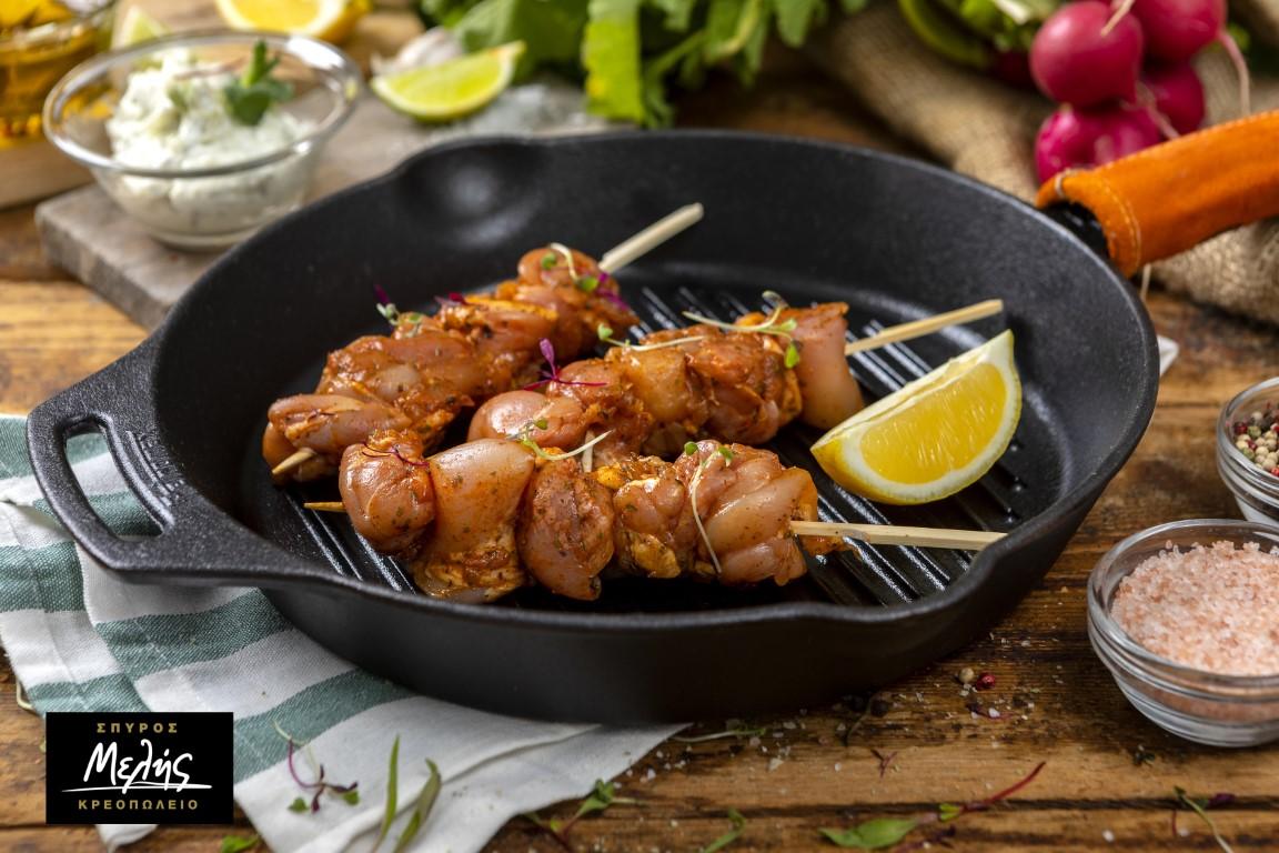 Κοτόπουλο Σουβλάκι Μαριναρισμένο στο Ξυλάκι - 500 - 550Gr