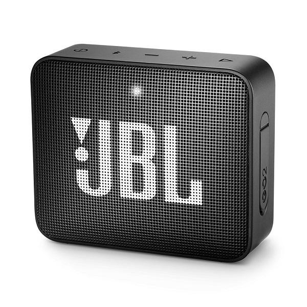 JBL GO2 Portable Bluetooth Speaker with Rechargeable Battery, Waterproof, Built-in Speakerphone, Black