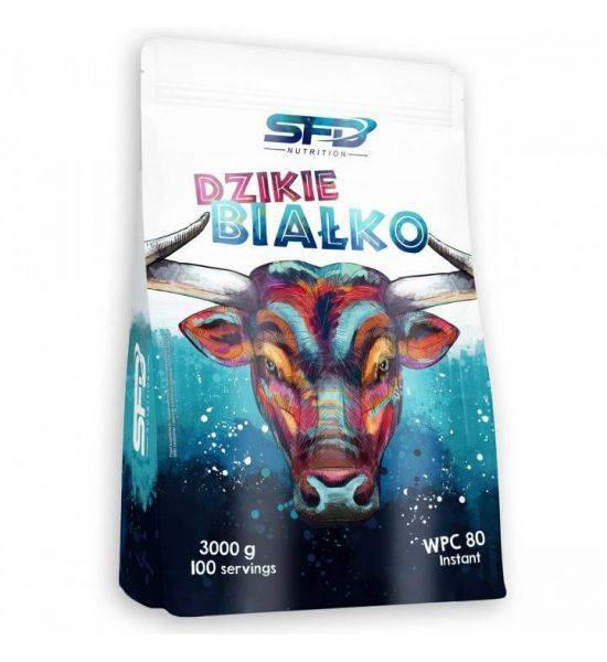 SFD NUTRITION DZIKIE BIALKO 3000G - BANANA STRAWBERRY