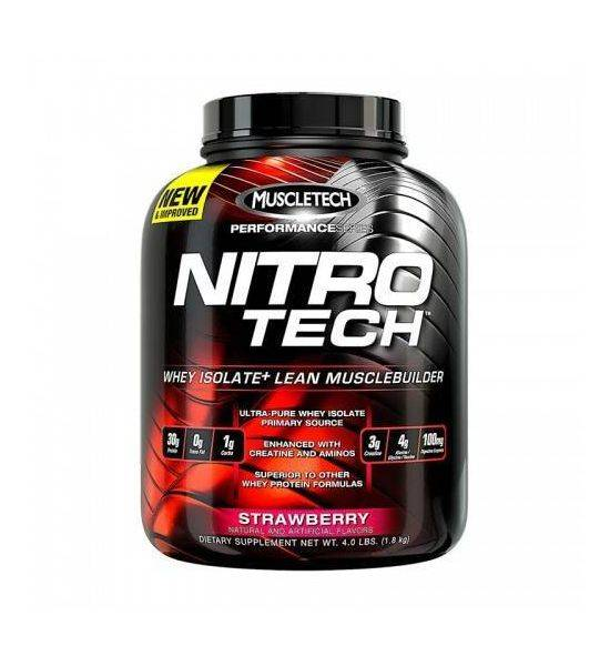 MUSCLETECH NITRO TECH WHEY PEPTIDES & ISOLATE PRIMARY SOURCE - 1.81KG - Strawberry