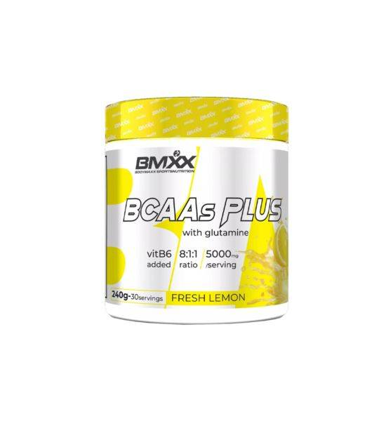 BCAAS PLUS 8:1:1- BRANCHED CHAIN AMINO ACIDS WITH GLUTAMINE AND VIT B6 - Fresh Lemon