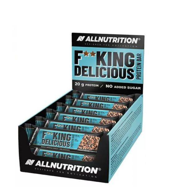 All Nutrition F**cking Delicious Protein Bar 55g PACKAGE 15 PIECES - Choco Caramel