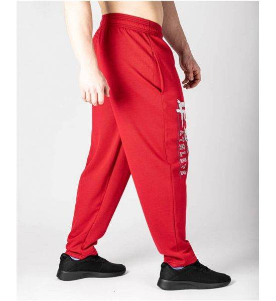 """KNITTED RAIN MESH """"BODY PANTS"""" Red - Size M"""