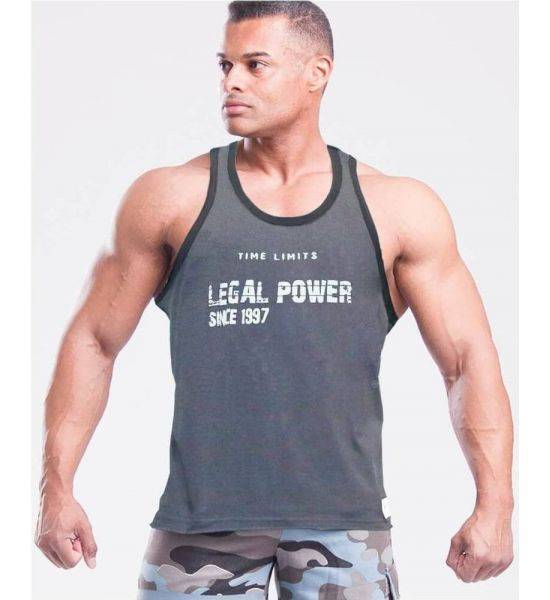 """MUSCLE TANK TOP """"TIME LIMIT"""" Grey - Size S"""