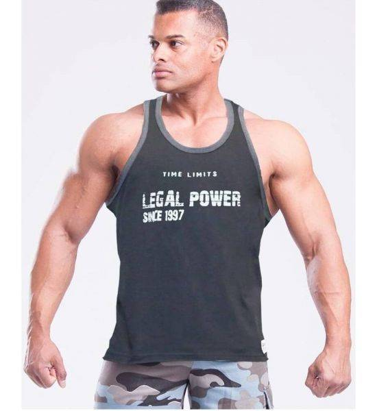 """MUSCLE TANK TOP """"TIME LIMIT"""" Black - Size S"""