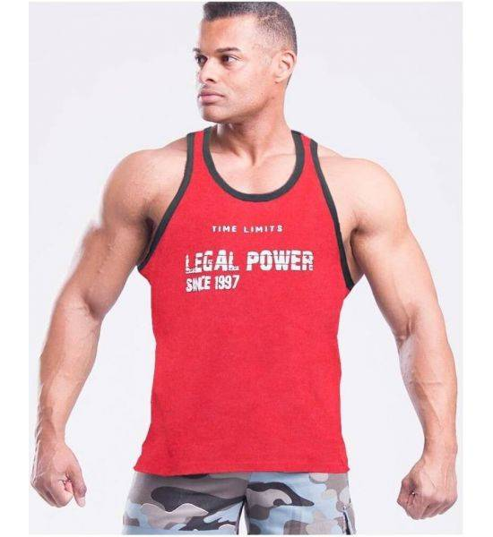 """MUSCLE TANK TOP """"TIME LIMIT"""" Red - Size M"""