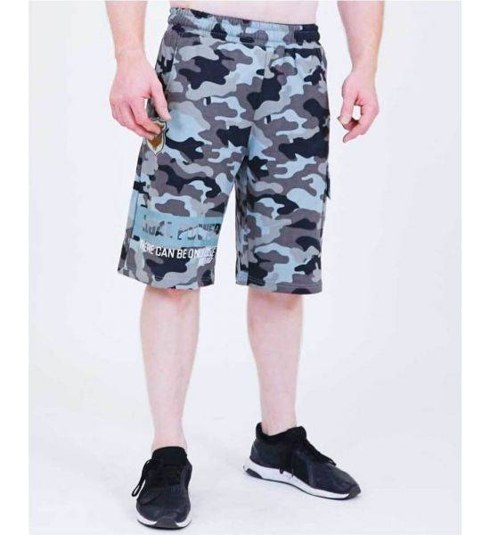 """SHORTS """"CAMOU"""" Blue - Size S"""