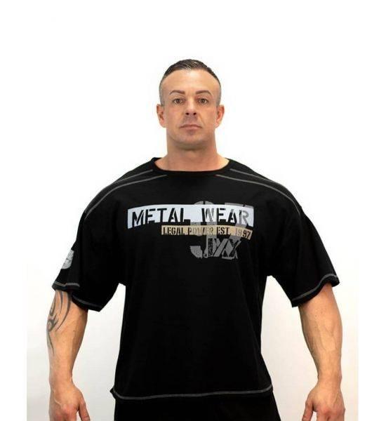 """RAG TOP """"METAL 97 Black - Size L"""