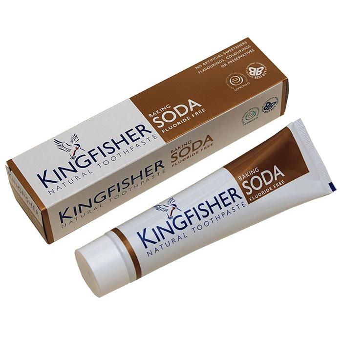 KINGFISHER TOOTHPASTE BAKING SODA FLUORIDE FREE 100ML