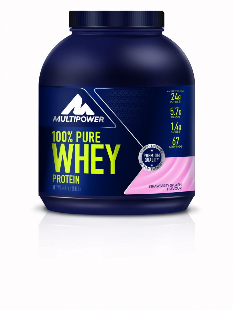 MULTIPOWER 100% Whey Protein Strawbery Splash 2000g