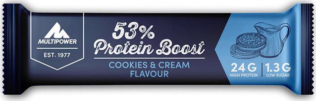 MULTIPOWER 53% Protein Bar Cookies & Cream 20x45gr