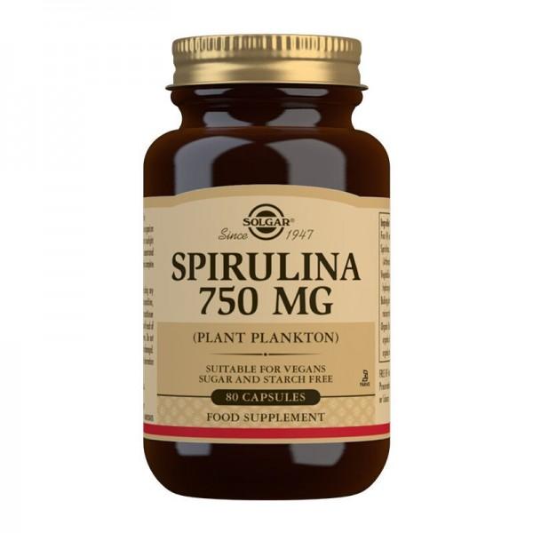 SOLGAR SPIRULINA VEGETARIAN 750MG 80 capsules