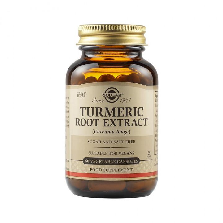 SOLGAR Tumeric Root Extract 60 Vegetable capsules