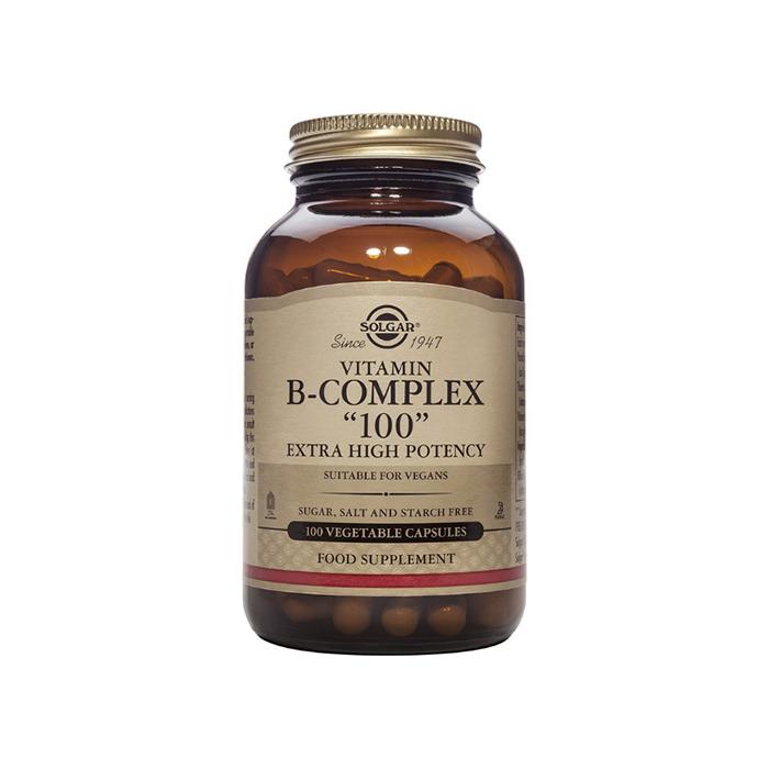 SOLGAR VITAMIN B-COMPLEX 100mg 100 vegetable capsules
