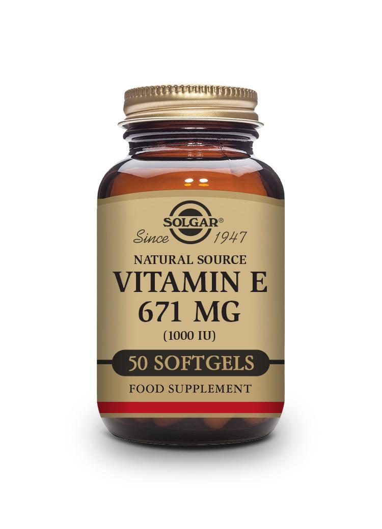 SOLGAR VITAMIN E 671mg 1000iu 50 vegetable capsules