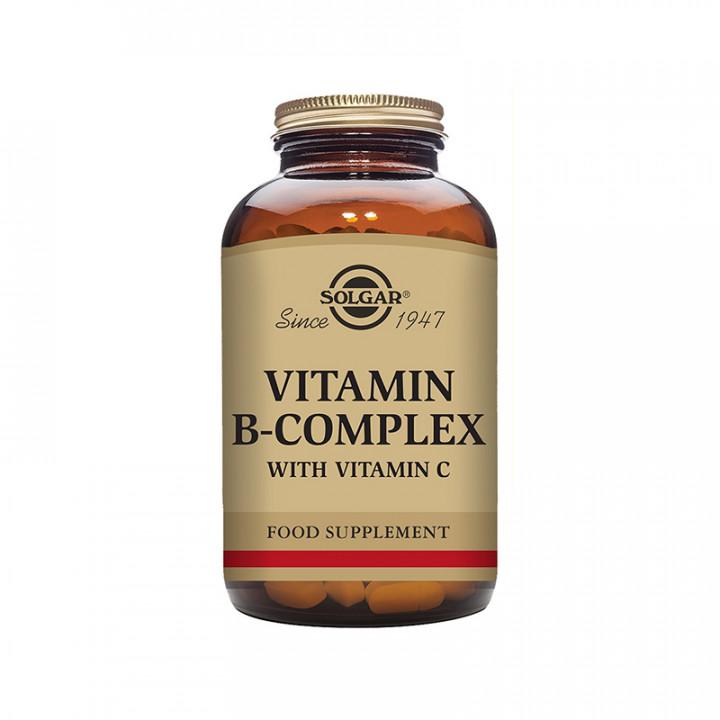 SOLGAR VITAMIN B COMPLEX with VITAMIN C 100 TABLETS