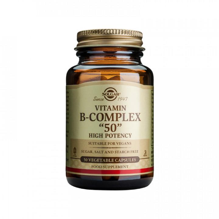 SOLGAR Vitamin B- Complex 50 vegetable capsules