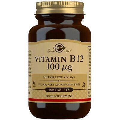 SOLGAR Vitamin B12 100mcg 100 tablets