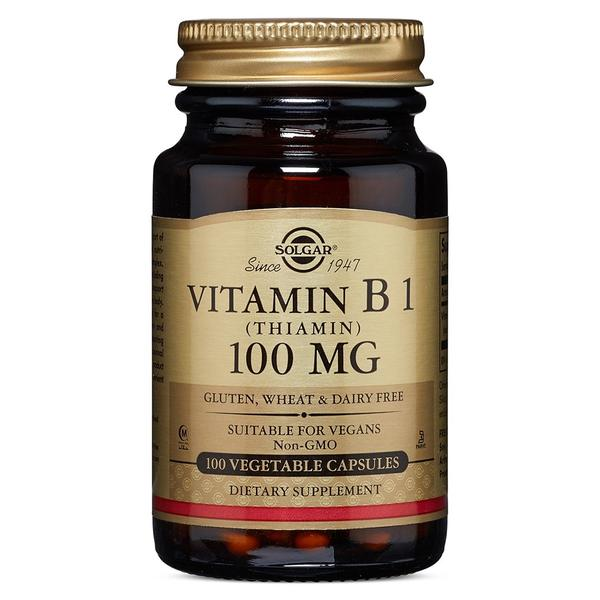 SOLGAR Vitamin B1 100mg 100 vegetable capsules