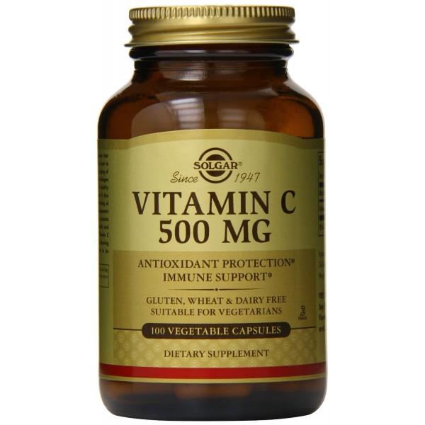SOLGAR Vitamin C 500mg 100 vegetable capsules