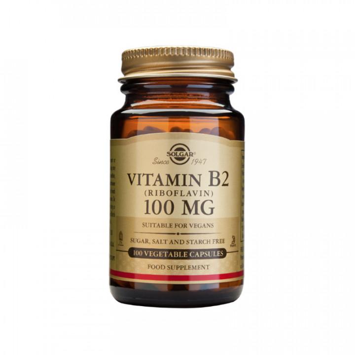 SOLGAR Vitamin B2 100mg 100 vegetable capsules