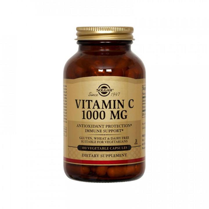 SOLGAR Vitamin C 1000mg 100 vegetable capsules