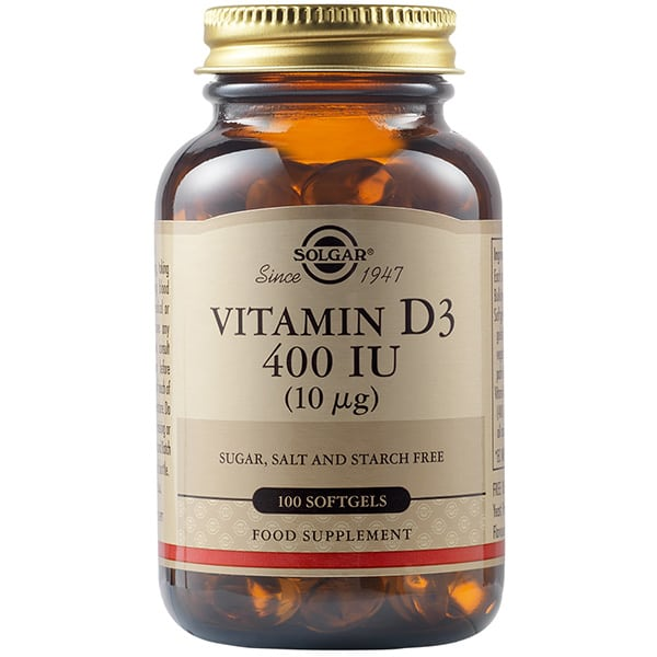 SOLGAR Vitamin D 400iu 10mcg 100 softgels