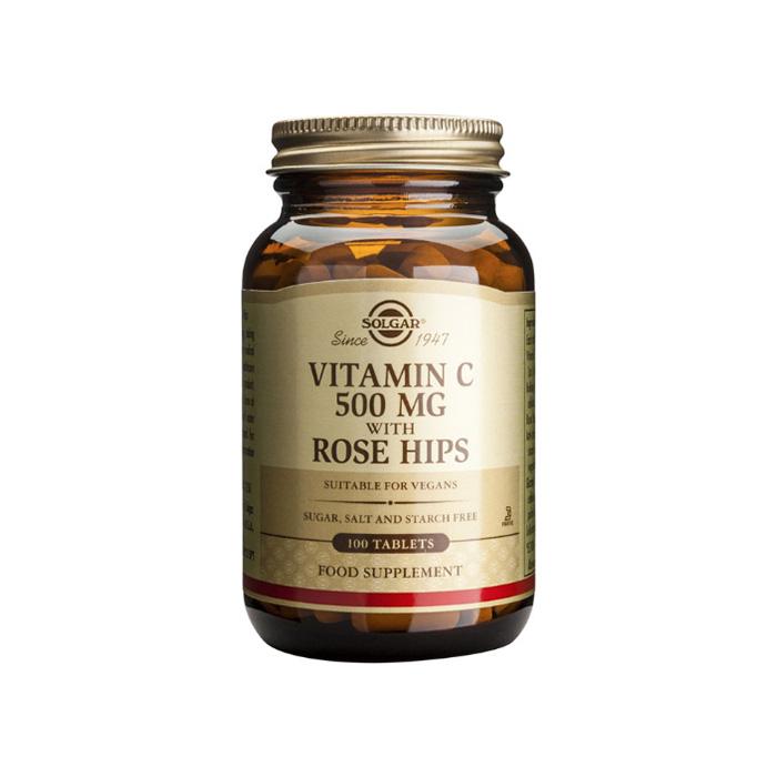 SOLGAR Vitamin C Rose Hips 500mg 100 tablets