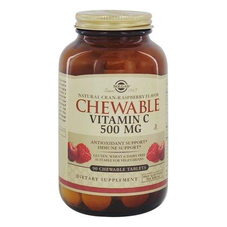 SOLGAR Vitamin C Chewable Crand Rasberry 90 tablets