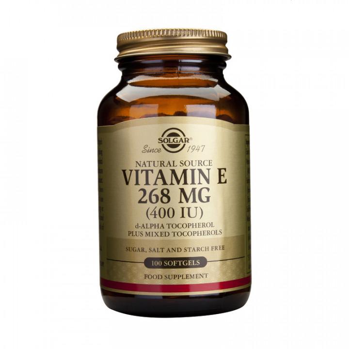 SOLGAR Vitamin E 400iu 268mg 100 Softgels