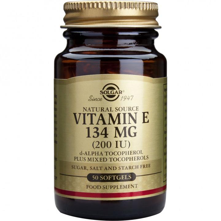 SOLGAR Vitamin E 200iu 134mg Softgels 50 softgels