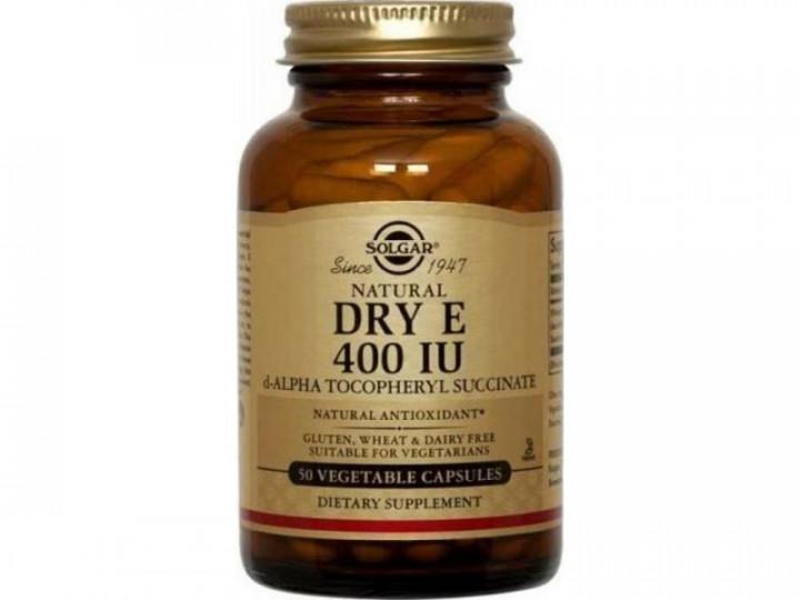 SOLGAR Vitamin E Dry 400iu 330mg 50 vegetable capsules
