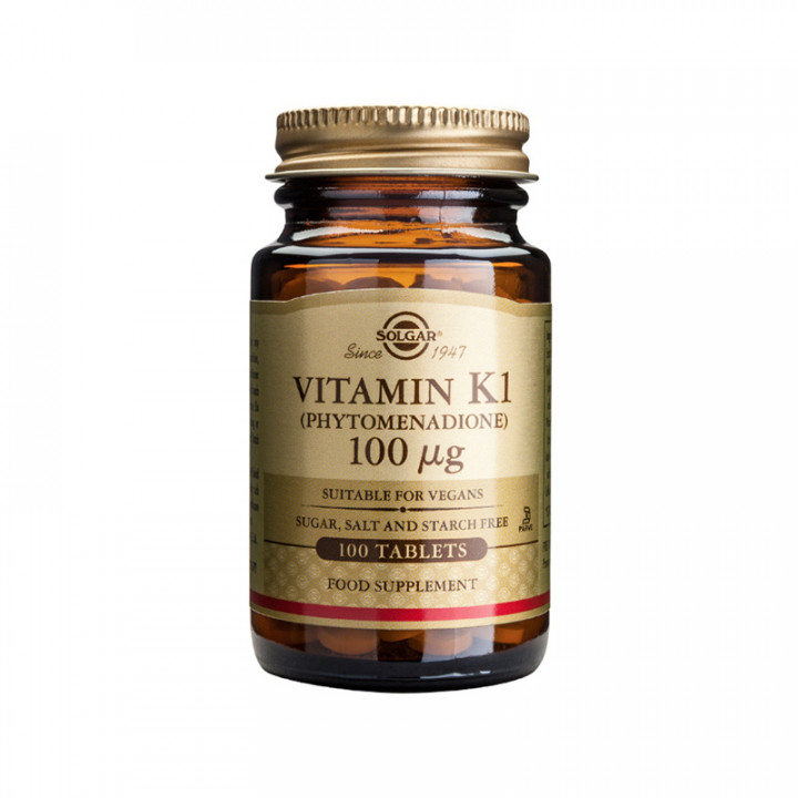 SOLGAR Vitamin K 100mcg 100 tablets