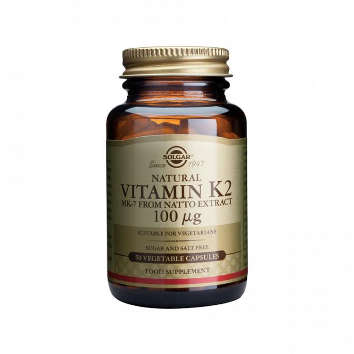 SOLGAR VITAMIN K2 100mg 50 vegetable capsules