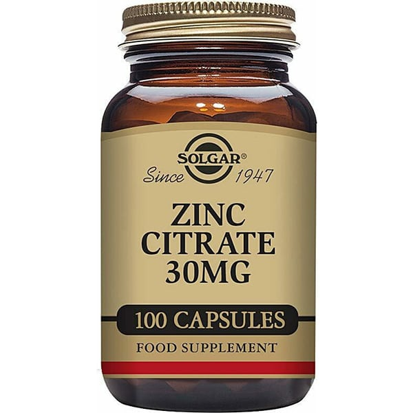 SOLGAR Zinc Citrate 30mg 100 capsules
