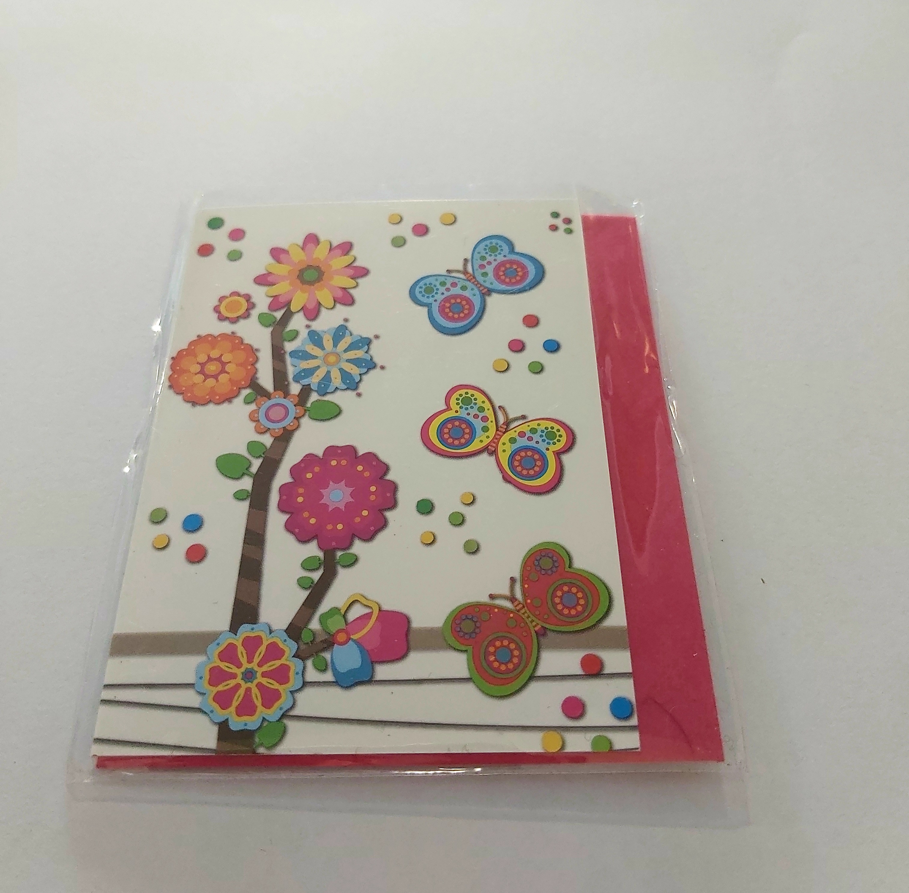 Mini κάρτα με πεταλούδες