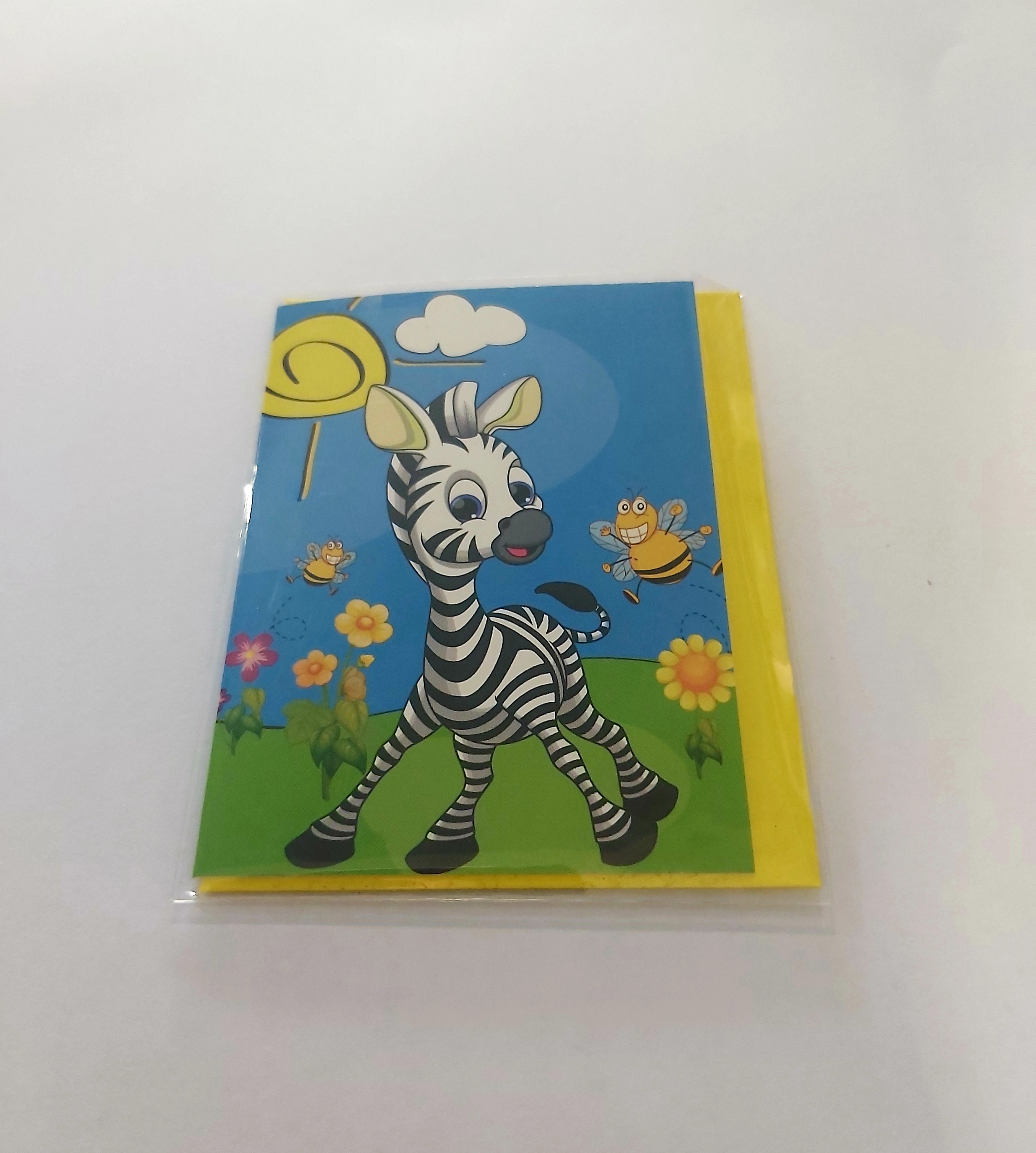 Mini κάρτα με zebra