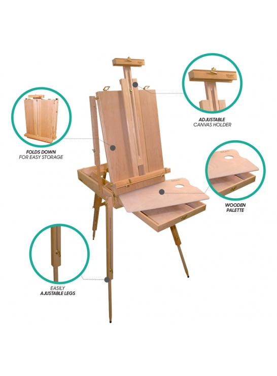French Box Easel Extra large