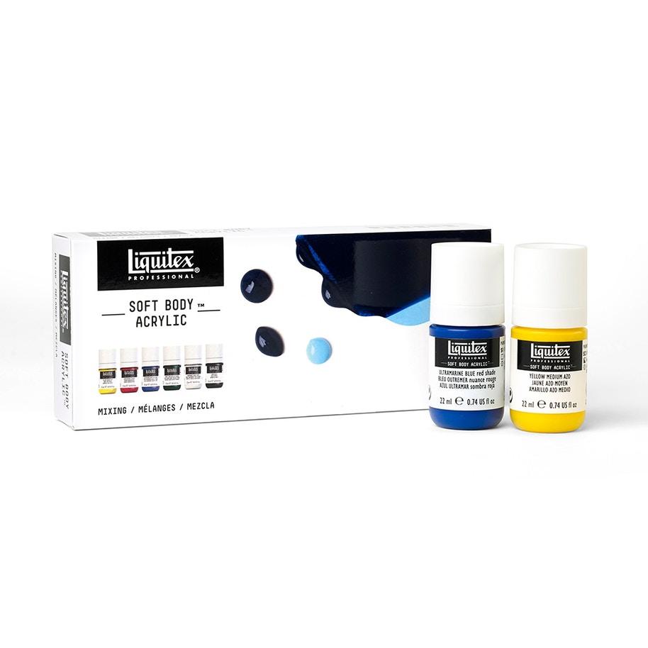 LIQUITEX soft body acrylic set 6