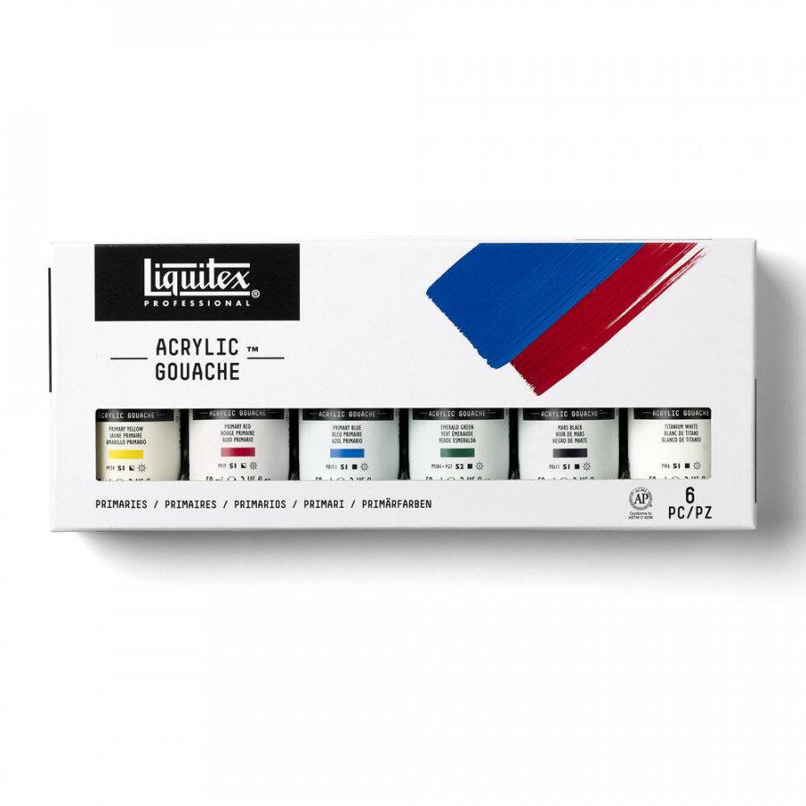 LIQUITEX acrylic gouache set Primary