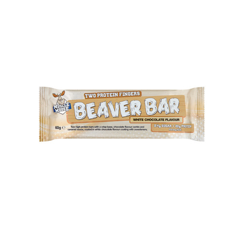 MUSCLE MOOSE BEAVER BAR WHITE CHOCOLATE  60GR