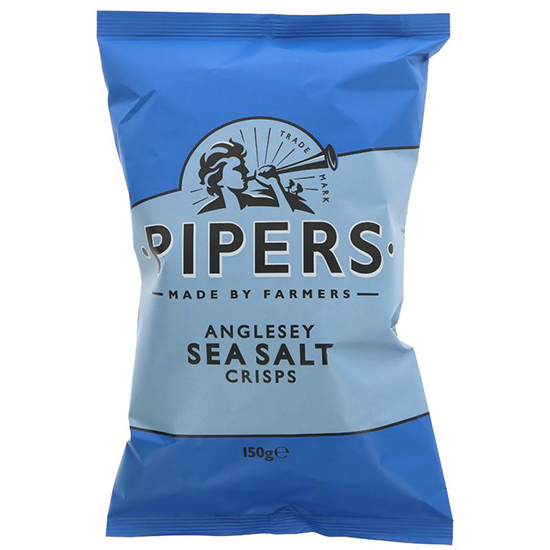PIPERS SEA SALT CRISPS  150GR