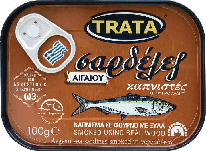 TRATA SARDINES SMOKED IN VEGETABLE OIL  100GR