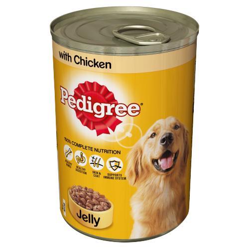 PEDIGREE ADULT WET DOG FOOD JELLY IN CHICKEN  400GR